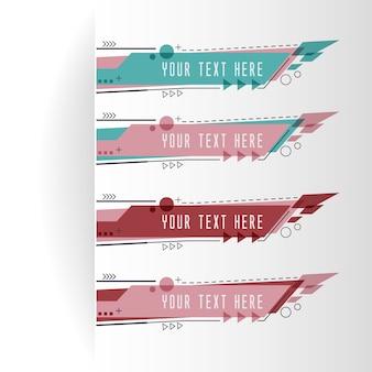 Poziome szablony transparentu biznesu i retro kolorowe.
