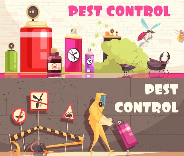 Poziome sztandary kontroli szkodników