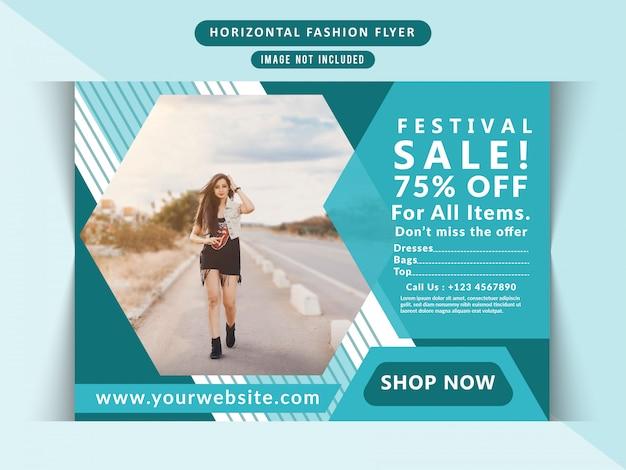 Poziome ulotki sprzedaży mody