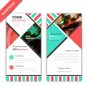 Poziome zniżki baner żywności dla restauracji