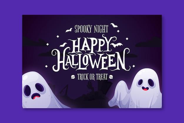 Poziomy baner halloween