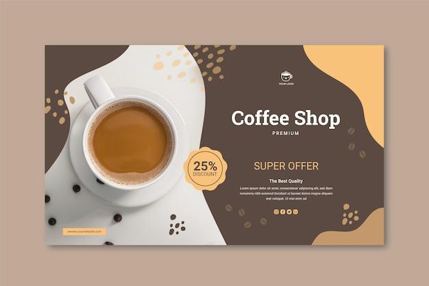 Poziomy baner kawiarni