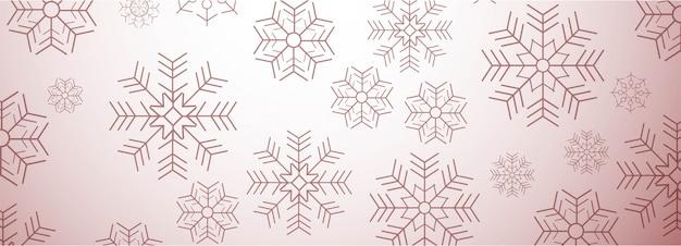 Poziomy baner z kartki świąteczne