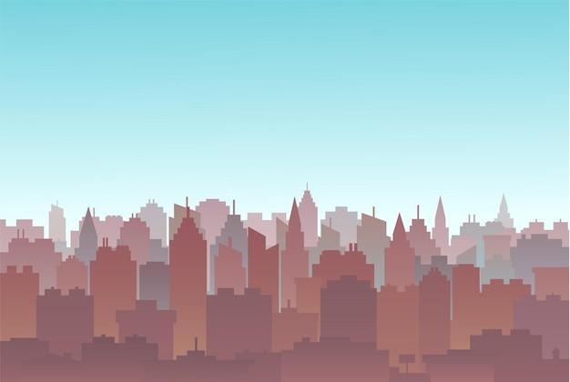 Poziomy krajobraz miasta