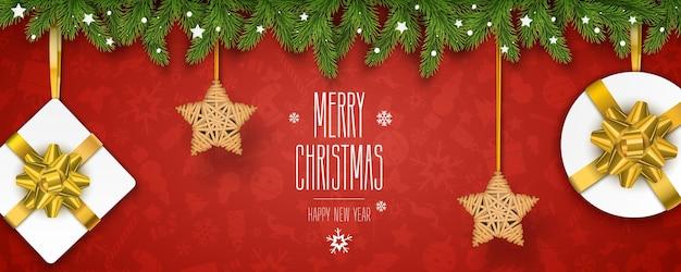 Poziomy plakat świąteczny