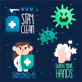 Pozostań czysty i bezpieczny zestaw odznak