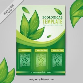 Pozostawia ulotki ekologicznego