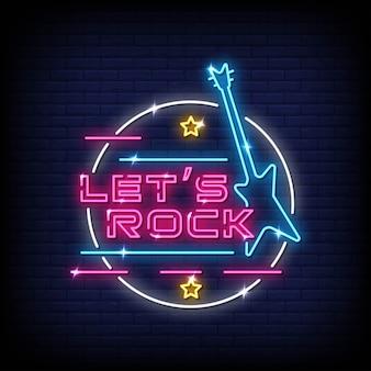 Pozwala rockować tekst w stylu neon signs