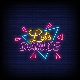 Pozwala tańczyć tekst w stylu neonowym