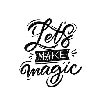 Pozwala zrobić magic ręcznie rysowane czarny kolor tekst frazę motywacji napis