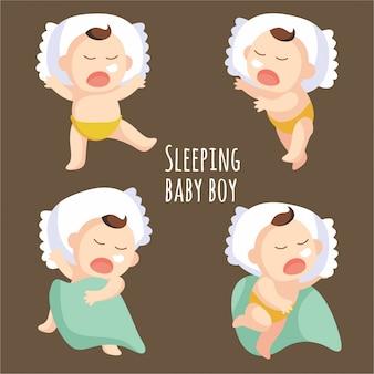 Pozycja do spania chłopca