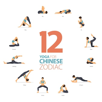Pozycje jogi lub asana do treningu