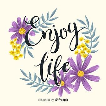 Pozytywna wiadomość z kwiatami