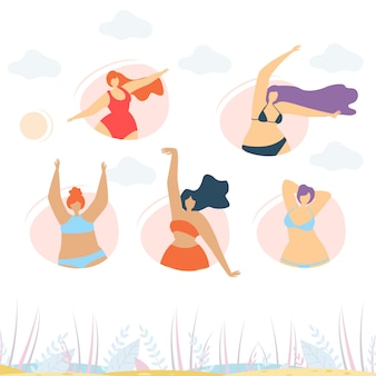 Pozytywne ciało motywuje kreatywny szablon transparentu
