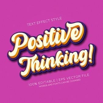 Pozytywne myślenie efektów tekstowych