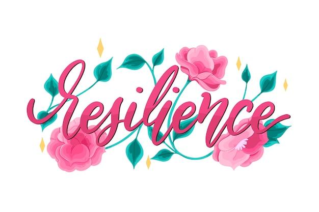 Pozytywne napis z tłem kwiatów