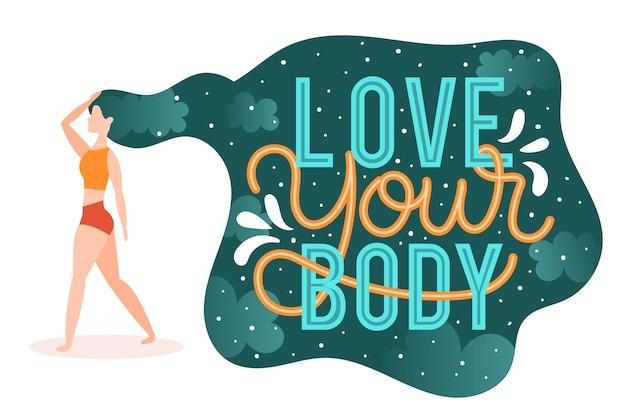 Pozytywne napisy na ciele