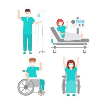 Pozytywni pacjenci walczący z koronawirusem