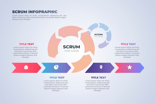Praca jako zespół infografiki scrum