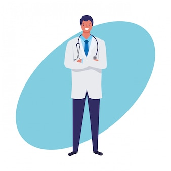 Praca lekarza i losowanie ręki zawodu