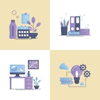 Praca narzędzie koncepcja projektowania wektorowego