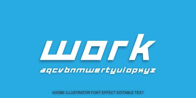 Praca tekst edytowalny efekt biały