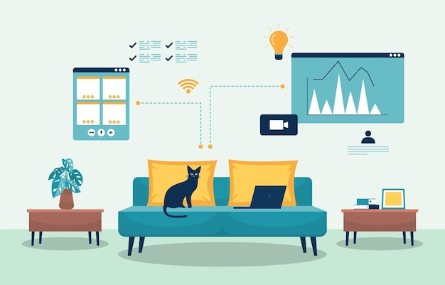 Praca w domu komputer internet business freelancer online