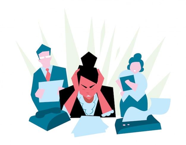 Praca w stresie w biurze.