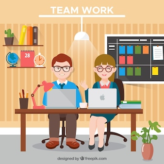 Praca w zespole, ładne biuro