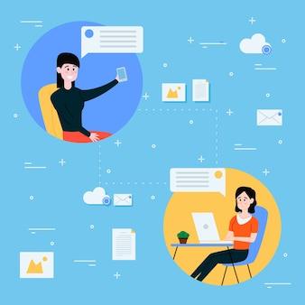 Praca z domu i sieci między współpracownikami