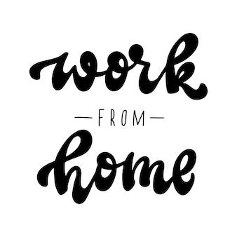 Praca z domu napis cytat