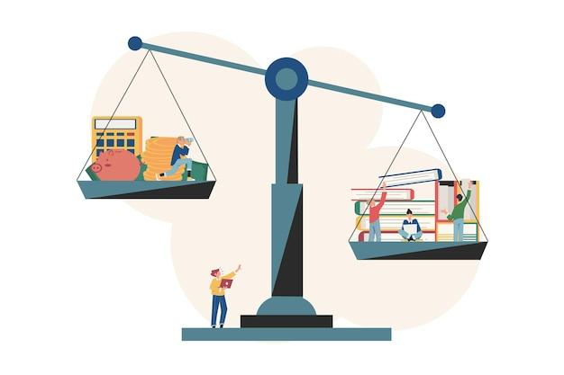 Praca zespołowa i korporacyjna dobra równowaga między czasem tworzenia pomysłów a pracą