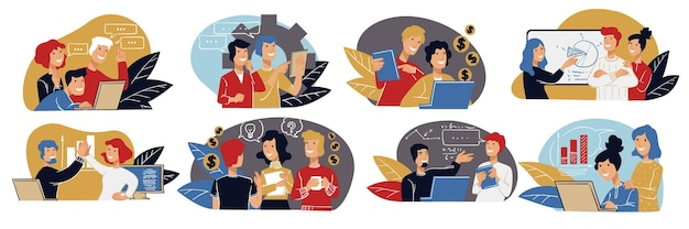 Praca zespołowa i partnerstwo ludzi zadań biznesowych