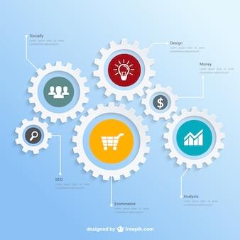 Praca zespołowa infografika