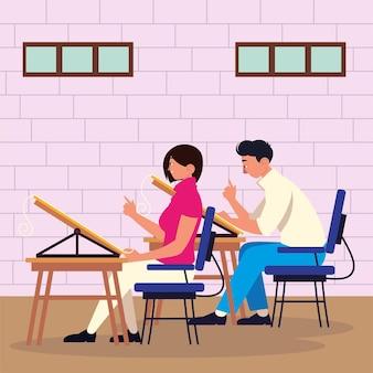 Praca zespołowa kobieta mężczyzna projektantów biuro