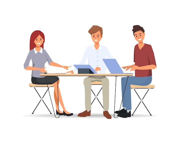 Praca zespołowa ludzi biznesu współpracujących