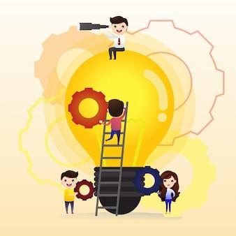 Praca zespołowa w poszukiwaniu nowych pomysłów