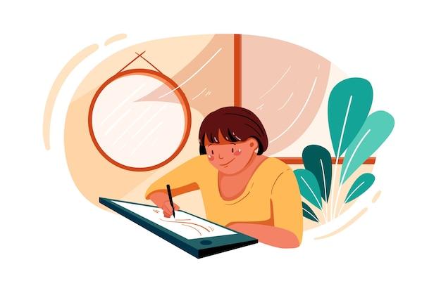 Pracownica pracująca nad projektem