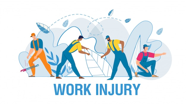 Pracownicy cierpi od bólowej medycznej płaskiej ilustraci