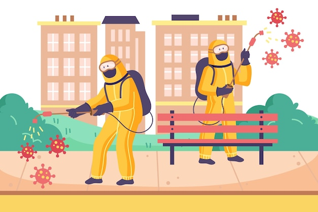 Pracownicy świadczący usługi sprzątania na zewnątrz