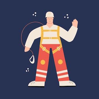 Pracownik budowlany lub fabryczny na sobie kask