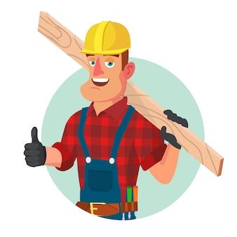 Pracownik budowlany z narzędziami