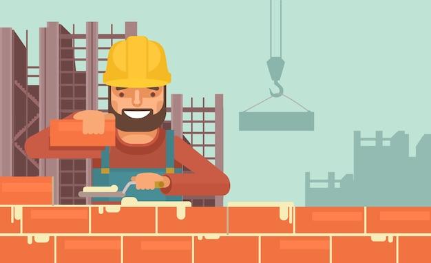 Pracownik budowlany.