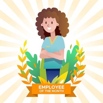 Pracownik koncepcji miesiąca z kobietą