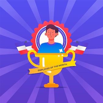 Pracownik koncepcji miesiąca z trofeum
