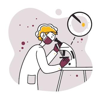 Pracownik laboratorium robi badania
