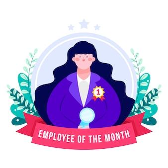 Pracownik miesiąca ilustrowany projekt