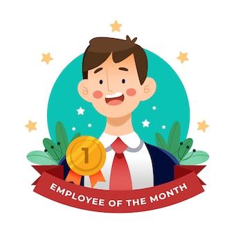 Pracownik miesiąca mężczyzna
