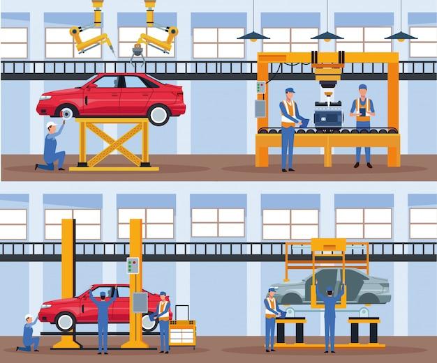 Pracownik na fabryce samochodów