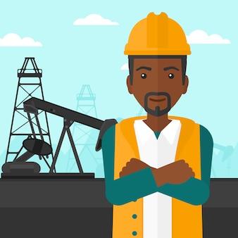Pracownik naftowy cnfident.